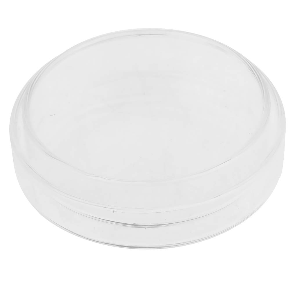 B Blesiya Borosilicate Glass Petri Dish Plate With Cover, Heat Resistant, Acid and corrosion resistant, smooth mouth for labs' safe use - Clear, 60mm smooth mouth for labs' safe use - Clear
