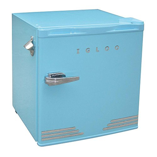 Igloo 1.6 cu ft Retro Compact Refrigerator with Side Bottle Opener – Blue