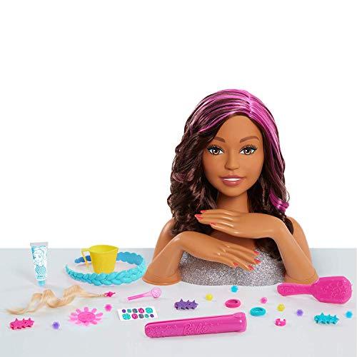 Barbie Deluxe Styling Head(Mc) -Brown Mailer
