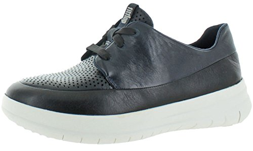 FitFlop Womens Sporty-Pop Softy Sneakers Shoes Black/Super Navy m3haT