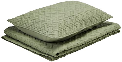 3pc Twin Nina Embossed Quilt Set Green- VCNY Home
