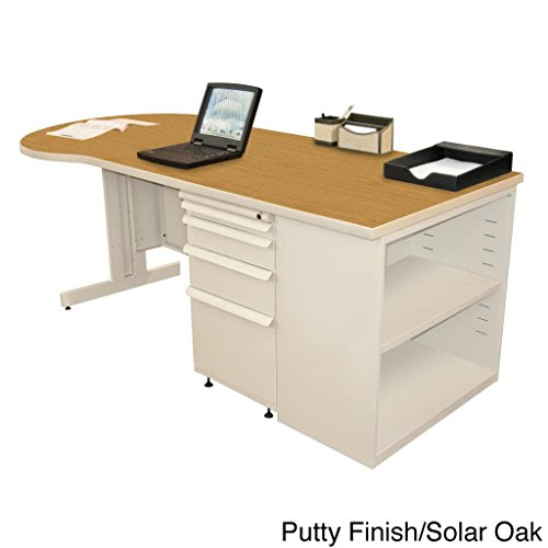 Zapf Computer Desk with Bookcase Laminate Color: Solar Oak, Finish: Pumice by Marvel
