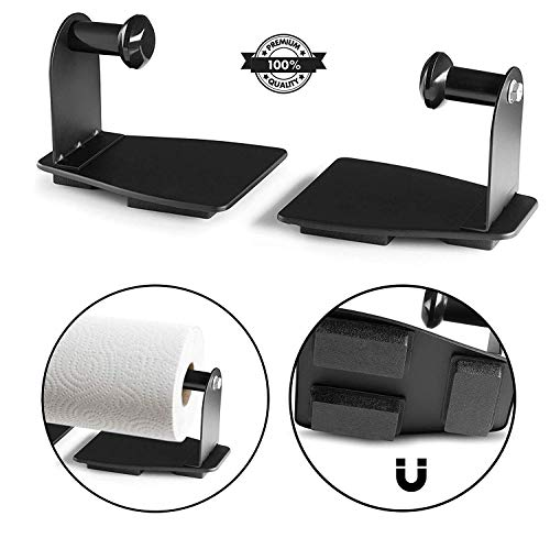 Katzco Magnetic Paper Towel Holder - Heavy Duty Steel Holder With Magnetic Backing That Sticks To Any Ferrous Surface; Great For Kitchen, Work Benches, Storage Closets, Grill Or In The Garage