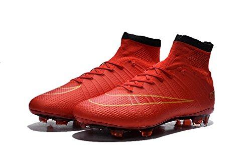 Herren Mercurial X Superfly FG CR rot High Top Fußball Schuhe Fußball Stiefel mit ACC