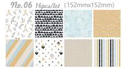 6 inch scrapbooking paper set 16 decoupage papers vintage paper pad for card making origami papers -
