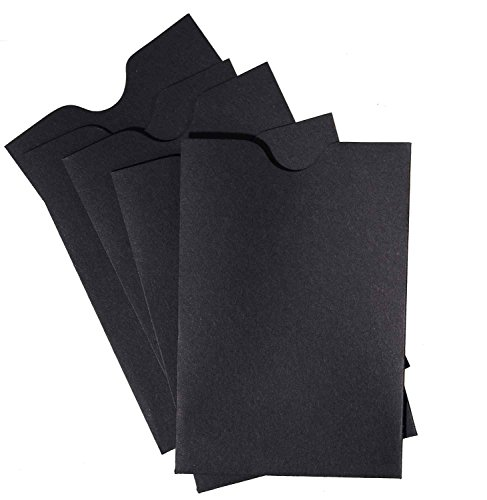 Credit Card/Gift Card Holder Envelopes Sleeve Protectors (2 3/8 x 3 1/2) - Black (24)