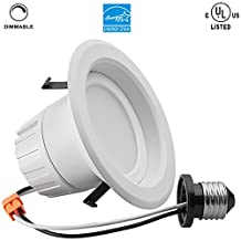 9Watt 4-inch 4000K ENERGY STAR UL-listed Dimmable LED Recessed Lighting Retrofit Kit, 780LM Equivalent 100W, Daylight LED Downlight Recessed, LED Ceiling Light Fixture