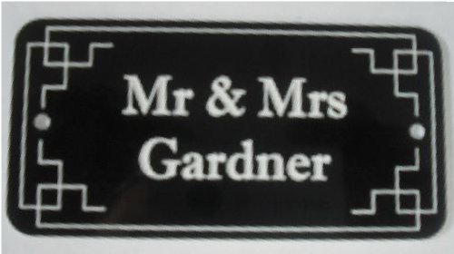 BLACK DOOR NAMEPLATE SIGN ENGRAVED PERSONALISED LDP37 90mm X 40mm FREE DELIVERY 1stclassgifts.co.uk