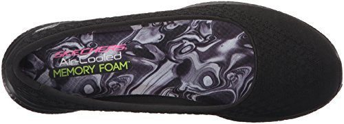 Skechers Damen-Microburst One Up Slip-On Sneaker - Schwarz, Schwarz, 39