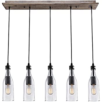Lnc wood pendant lighting 5 light ceiling lights linear chandelier lnc wood pendant lighting 5 light ceiling lights linear chandelier lighting mozeypictures Image collections