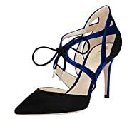 AOOAR Women's Lace Up Pointed Toe Dress Pumps Shoes