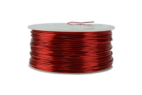 Enamel Magnetic (TEMCo 20 AWG Copper Magnet Wire - 1 lb 315 ft 155°C Magnetic Coil Red)