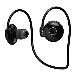Crave Octane Sport Wireless Bluetooth Earphones, In-Ear Sweat and Water Resistant Stereo Lightweight Headphones Earbuds Premium Sports Headset with Built-In Mic – Black