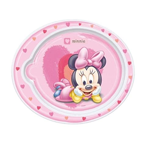 Stor Plato Microondas Minnie blanco/rosa: Amazon.es: Bebé