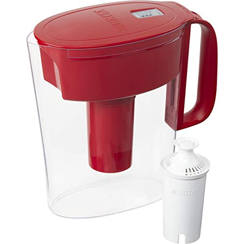Small Water Filter Pitcher with Filter Red