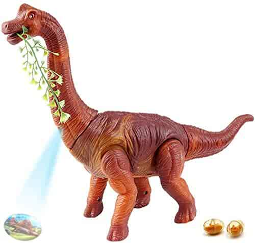 Dahuniu Walking Toy Dinosaur with Sounds and Egg Laying(Come with 2 Eggs),Dinosaur Toys for 3-12 Year Old Toddler Boy Girl Gift