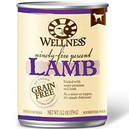 Wellness 95 Can Dog Food Topper 12pk Lamb