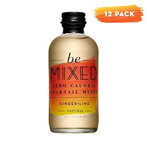 Zero Calorie Ginger Lime Cocktail Mixer by Be Mixed | Low Carb, Keto Friendly, Sugar Free and Gluten Free Drink Mix | 4 oz Glass Bottles, 12 Count