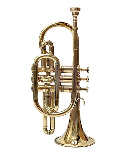 Brass Cornet Finish B Flat Great Look & Sound With Case Mp Gold shry039