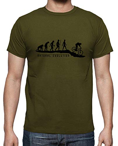 shirt Tostadora Verde T Mtb Militare Naturale Uomo Evoluzione 55aqr7w