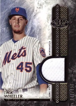 2016 Topps Tier One Relics #T1R-ZW Zack Wheeler Game Worn Jersey Baseball Card – Only 199 made!