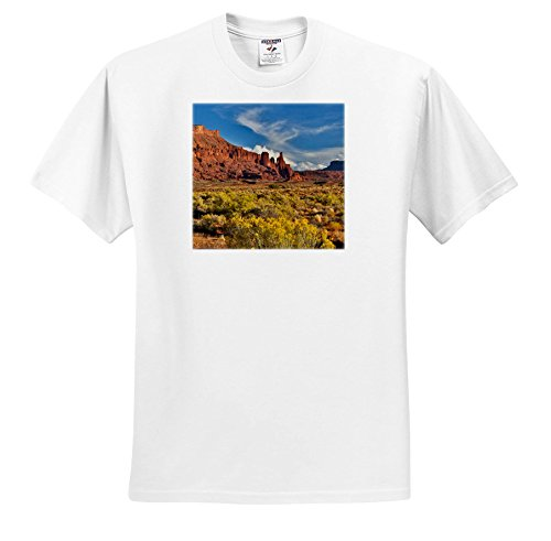 3dRose Danita Delimont - Deserts - Fisher Towers, Utah In Evening Light - T-Shirts - White Infant Lap-Shoulder Tee (12M) (White Fisher 12 Light)
