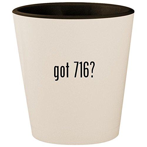 got 716? - White Outer & Black Inner Ceramic 1.5oz Shot Glass ()
