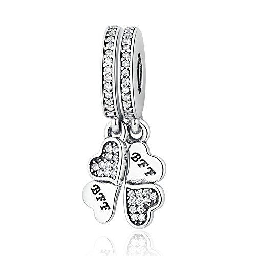 The Kiss Best Friend Forever Friendship 925 Sterling Silver Fits European Charm Bracelet (BFF Best Friends Forever)