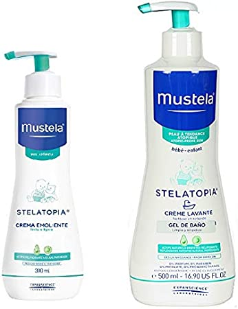 MUSTELA PACK STELATOPIA CREMA 300 ML + GEL BAÑO 500 ML: Amazon.es: Salud y cuidado personal