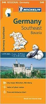 Mapa Regional Germany Southeast, Bavaria por Michelin epub