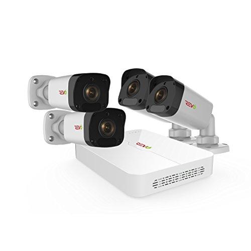 REVO Ultra 4CH H.265 NVR, 4X 1080p Indoor/Outdoor Bullet Cameras, 1 TB Surveillance Grade HDD, Remote Access