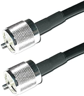 100ft RG8u Coax Cable with AMPHENOL PL259s attached | US Made RG-213 or RG