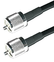 Andrew Commscope Commscope-uhf-1 Us Made Pl259 Uhf Male Pigtail Jumper Lmrcnt-240 Coaxial Cable Antenna Coax Uhf Vhf Hf (1-feet)