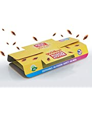 Roach House Cockroach Killer Sticky - Strong Glue Trap with Food Bait | Insects and Lizards No mess adhesive Catcher- Crawling House fly crawling insect Eco-Friendly Natural Indoor Pest Control