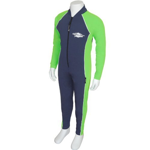 Stingray Australia UV Sun Protection Full Body Swimsuit for Boys & Girls-SPF Protective 1-piece suit - Long sleeve, Long leg Swimwear -Sizes 2, 4, 6, 8. (Navy/Lime, 6) ()