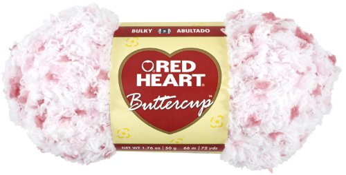(Red Heart Buttercup Yarn, White/Coral)