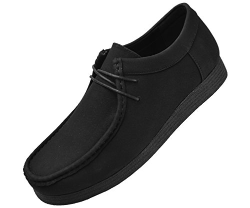 Men's Crepe Casual Rubber suede Low Boots Top Black High up Suede Leather Like Lace lowtop Amali Faux Sole SdqxUHwSB