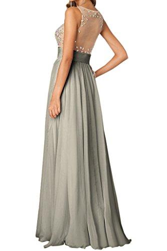 Lang Silber A Elegant Rundkragen Linie amp;Tuell Ivydressing Chiffon Steine Damen Abendkleid Promkleid Festkleid x0wT7q7Y