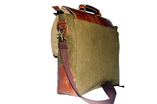 Laptop Messenger & Briefcase 17.3'' Bag, Office Bag for Men/Womens Shoulder Bag fit for Macbook/Dell/Hp/Lenovo/Acer/Asus Laptop (17.3 inch, Army Green) by Mythical Craft (Image #2)