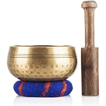 Amazon.com: Biggo Tibetan Singing Bowl Set - With Mallet ...