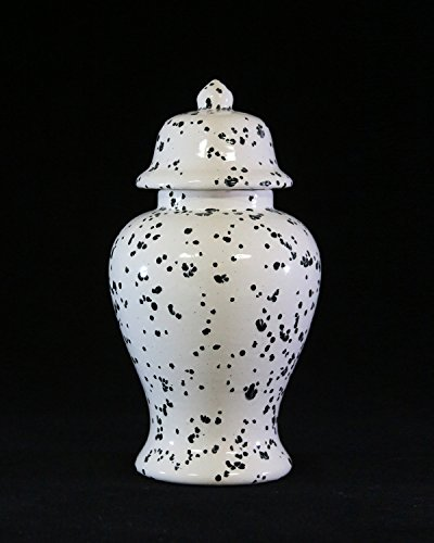 Handcrafted Ceramic Urn - Ink Spots -122 cu in - Various Colors and Sizes Available, Cremation Urn for Ashes, Pet Urn by Richland Pet Cremation & Memorials