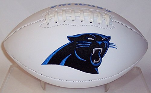 Carolina Panthers Embroidered Football (Carolina Panthers Embroidered Logo Signature Series Full Size Football - with 2015 NFC Champs)