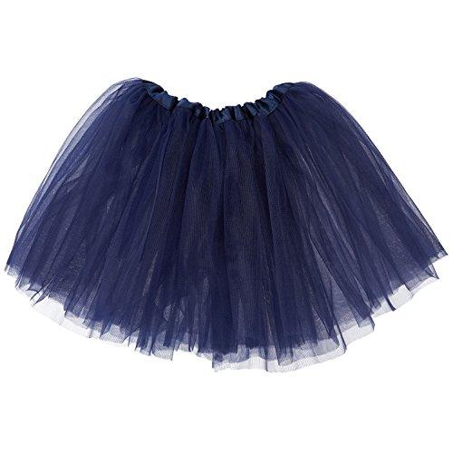 My Lello Little Girls Tutu 3-Layer Ballerina Navy (10 mo - 3T) -