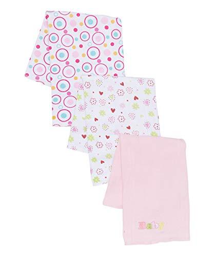 Spasilk Baby-Girls Newborn 3 Pack Burp Cloths, Pink Baby, One Size
