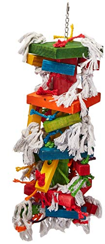 """Paradise Knots &Blocks Chewing Toy, Colorful & Entertaining, Keeps Birdy Happy, X-Large, 22"""" x..."""
