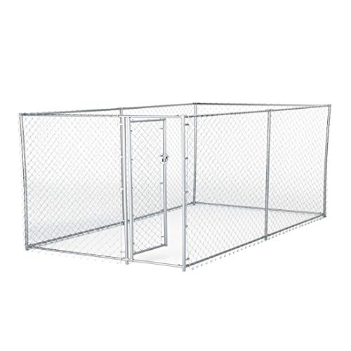 Lucky Dog Galvanized Chain Link Kennel (10' x 5' x '4) ()