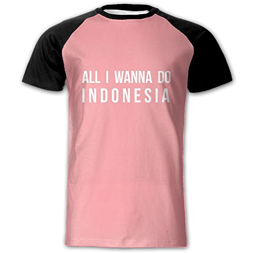 All I Wanna Do Indonesia Mens Short Sleeve Athletic T Shirt Quick Dry Sports Tennis Tees Tops
