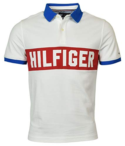 Tommy Hilfiger Men's Custom Fit Logo Polo Shirt - S - White