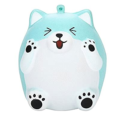 Bluelans Squeeze Squishy Cute Bear Slow Rising Cream Scented Decompression Toys Stress Relief Soft Toy Squishies Squeeze Toys Funny Gift (Blue)