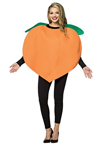 Womens Georgia Peach Life Sized Emoji Adult Costume Halloween Party